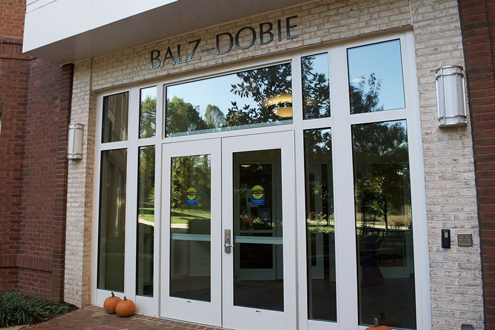 <p>The Balz-Dobie dorm houses most of the first year Echols scholars.</p>