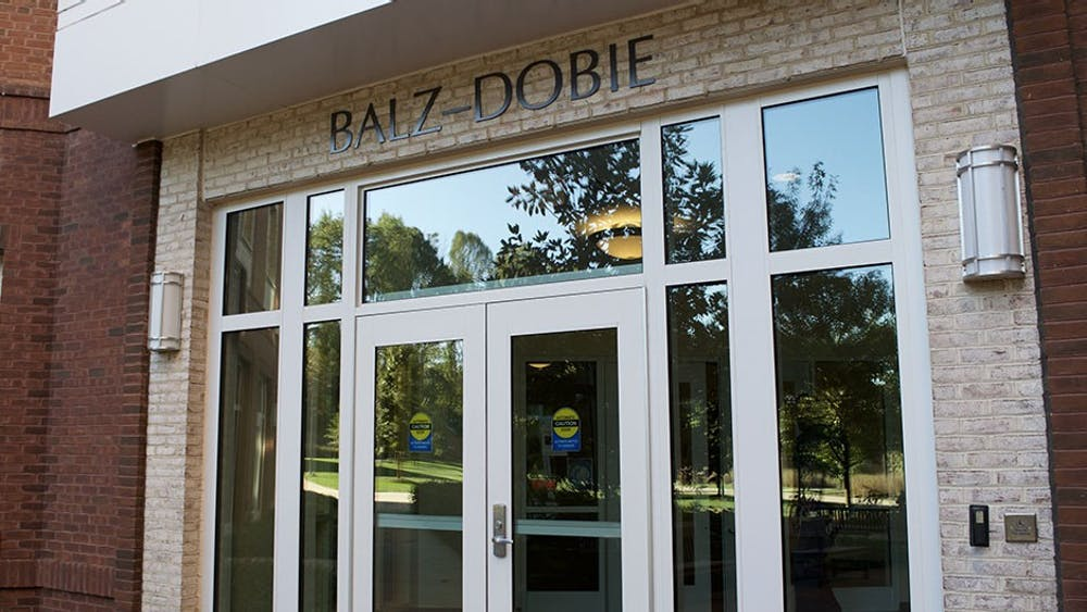 The Balz-Dobie dorm houses most of the first year Echols scholars.