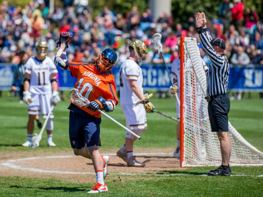 Senior attacker Mike D'Amario had three goals in the ACC Tournament final against Notre Dame.