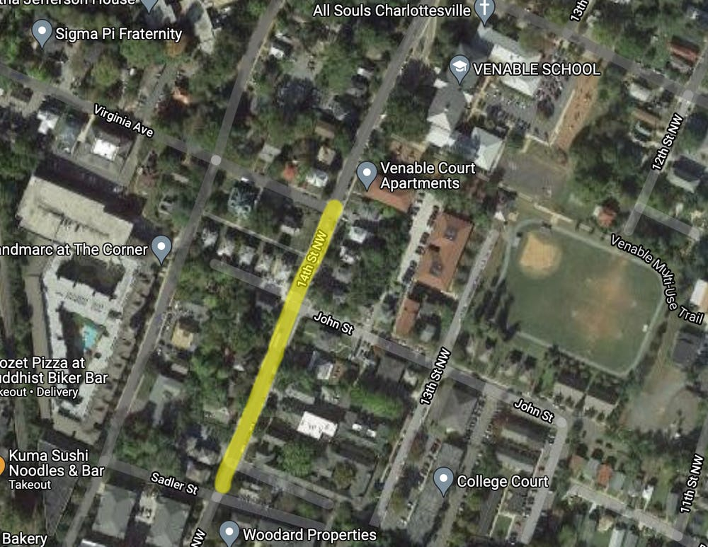 <p>The 300 block of 14th St. NW, located near Venable Elementary School and adjacent to Grandmarc Apartments.&nbsp;</p>