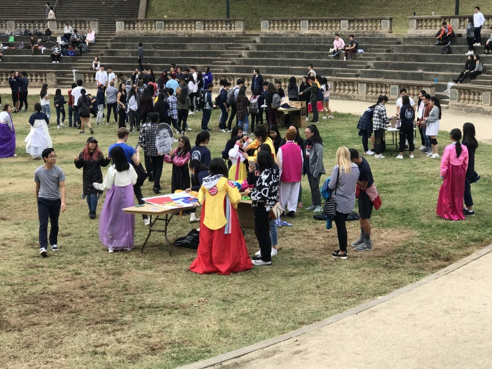 Participants at Korea Day were encouraged to visit each booth and learn about a Korean tradition or play a game.