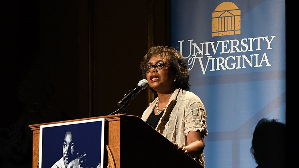 Anita Hill spoke at the Paramount Theater Thursday night.