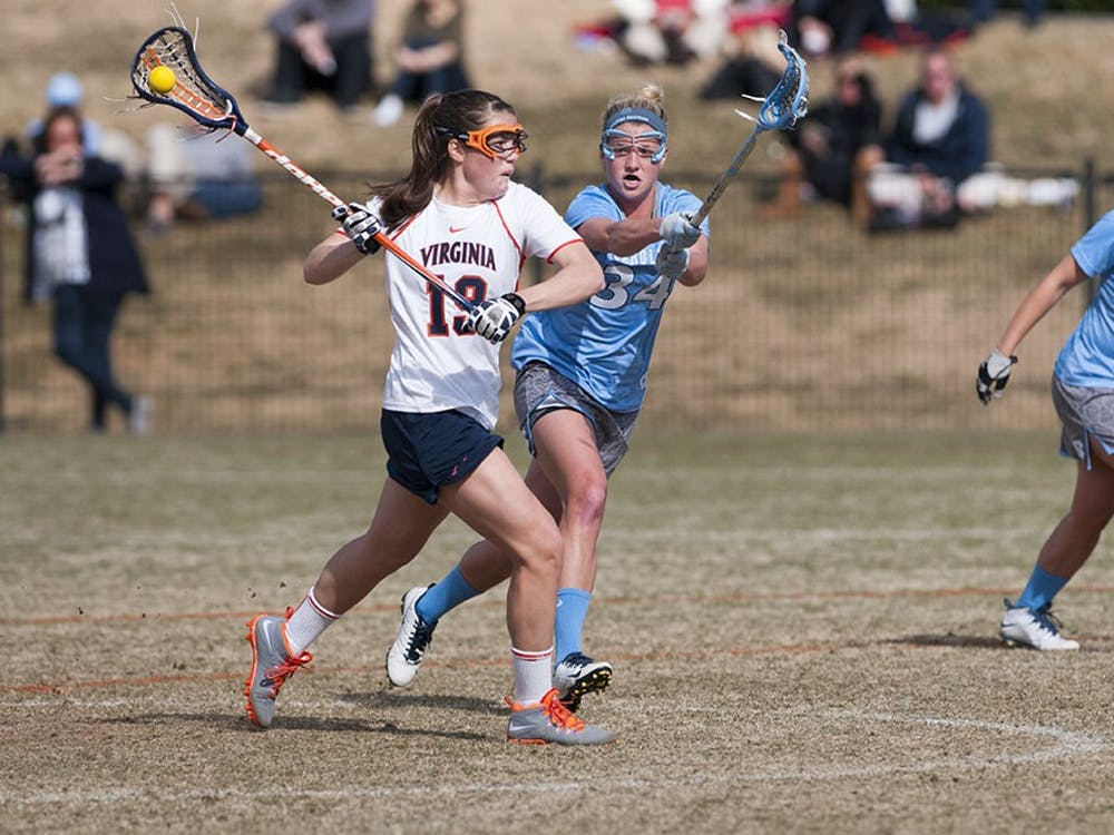 Senior midfielder Maddy Keeshan scored a hat-trick in Virginia's 13-8 win against No. 6 Notre Dame. Keeshan's goal with 20:30 left to play gave the Cavaliers their largest lead of the game at 10-3.