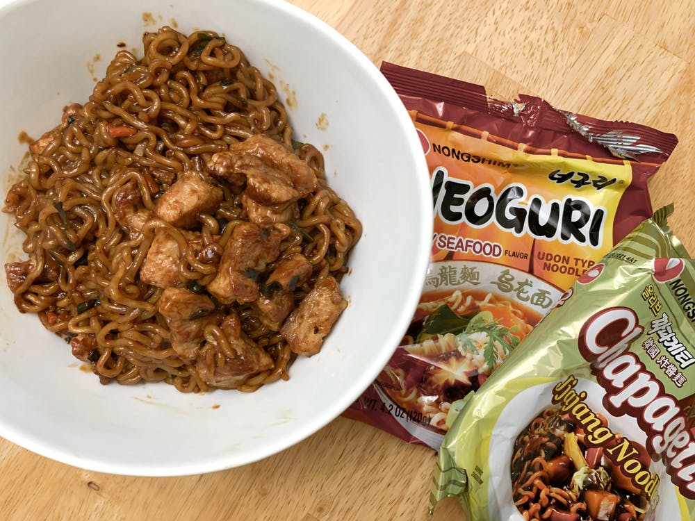 Although this dish mostly consists of instant noodles, the flavor combination from the two different brands gives the instant noodles an upgrade and the dish a fresh and fancy twist.