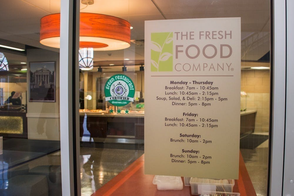 In 2018, 10.4 percent of UVA Dining's purchases met the AASHE STARS criteria for sustainable food.