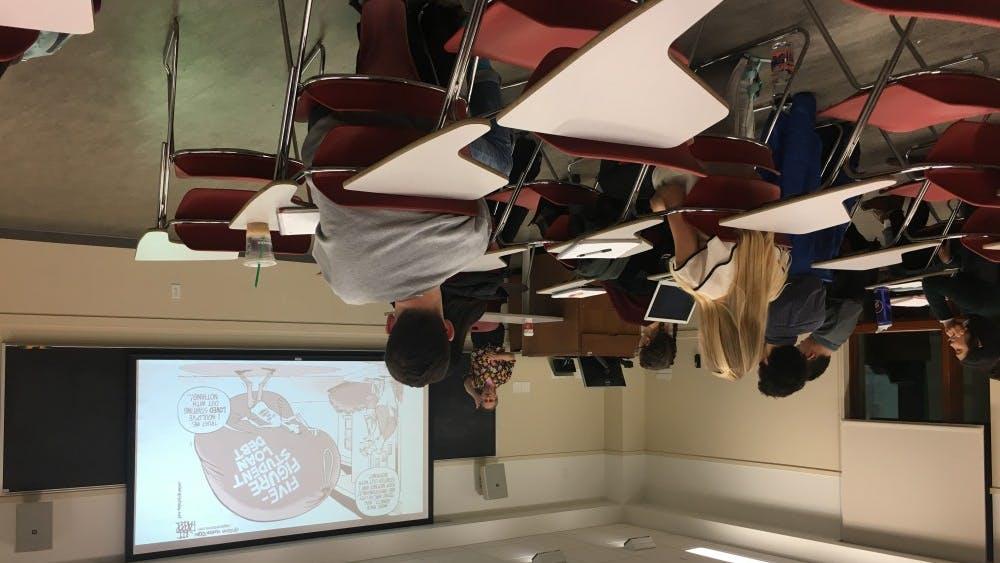 Politics Prof. Herman Schwartz presents at the Virginia Review of Politics' first speaker event.