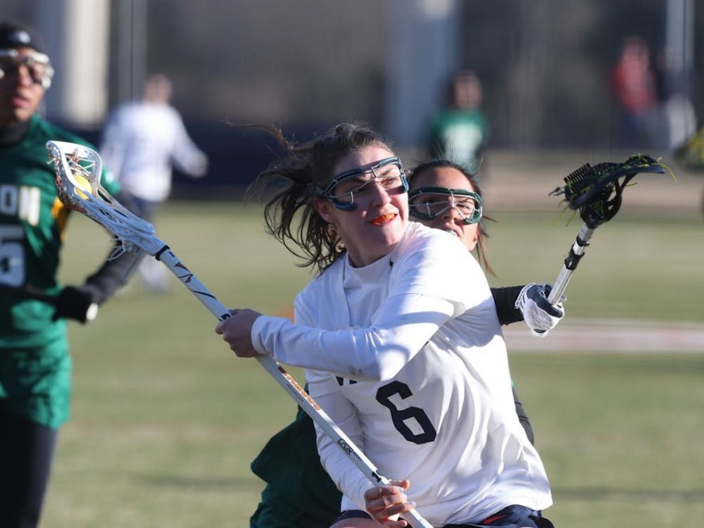 Senior attacker Avery Shoemaker matched a career high in the game with 6 goals.