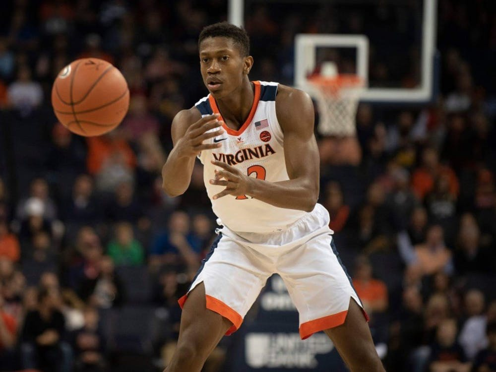 Redshirt sophomore guard De'Andre Hunter led all scorers with 19 points.