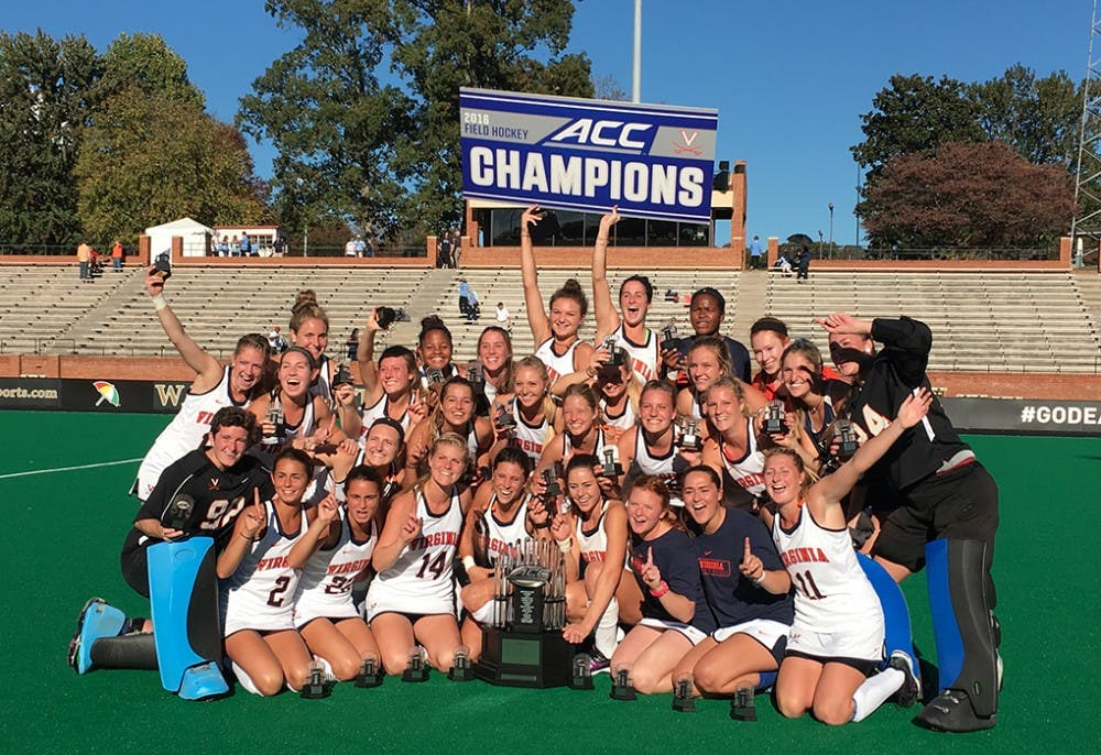 <p>The Virginia field hockey team claimed the program's first ACC championship Sunday defeating North Carolina, 4-2.</p>