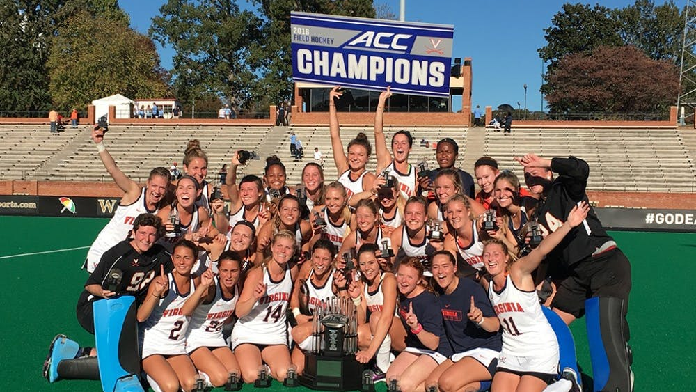 The Virginia field hockey team claimed the program's first ACC championship Sunday defeating North Carolina, 4-2.