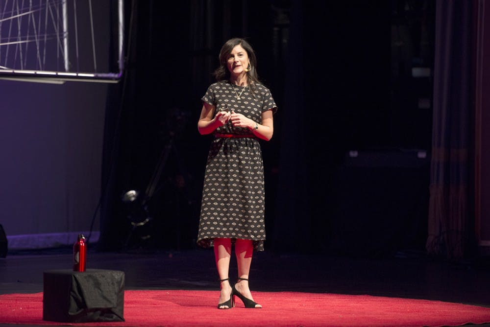 <p>Ami Vitale, a National Geographic photographer, was one of more than 20 speakers at the event.</p>