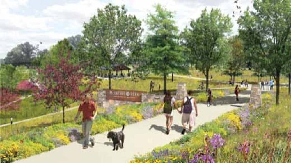 <p>Brian Daly, director of Charlottesville Parks and Recreation, said the master plan for the park willinclude, among other things, a trail, skate park and pedestrian footbridge over the railroad tracks, said</p>