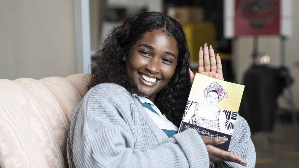 """""""I marched downtown with my book under my arm and went into the local stores, introduced myself and told them about the book, and then asked if they would be interested in selling it,"""" Njoku explained."""