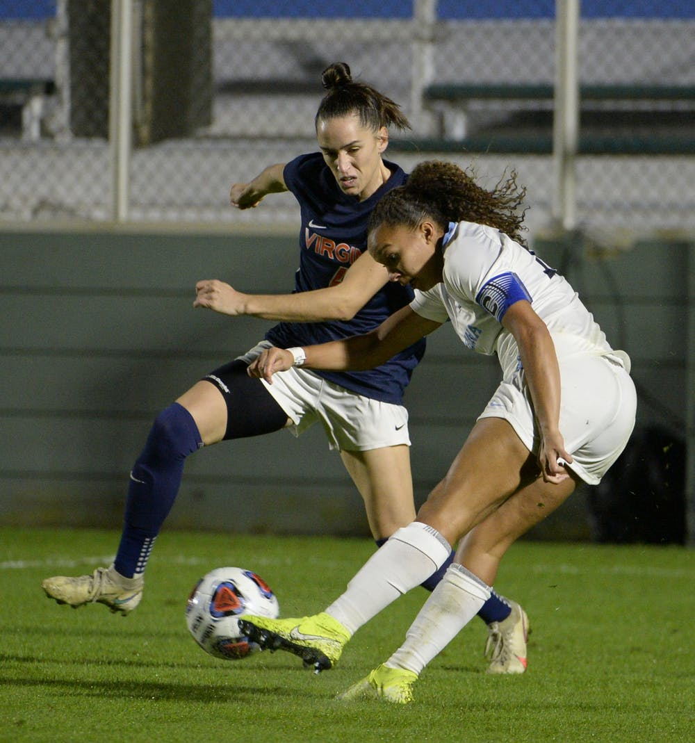 <p>Despite an impressive performance by both teams, North Carolina capitalized on a penalty kick in the first half and iced Virginia with a second goal in the 79th minute to advance to the ACC Championship.&nbsp;</p>