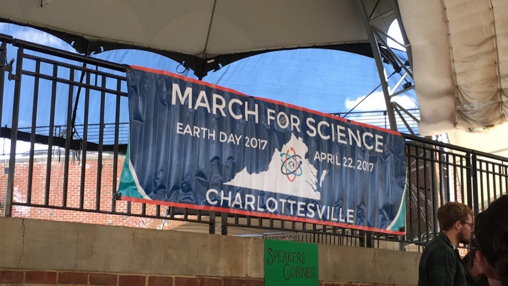 The Charlottesville March for Science took place downtown on Saturday.