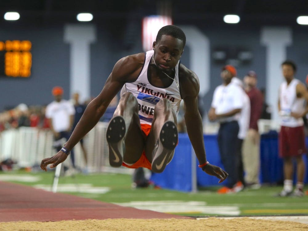 """<p>Junior Owayne Owens finished second in the triple jump, recording a jump of 16.04 meters (52'7.5"""")</p>"""