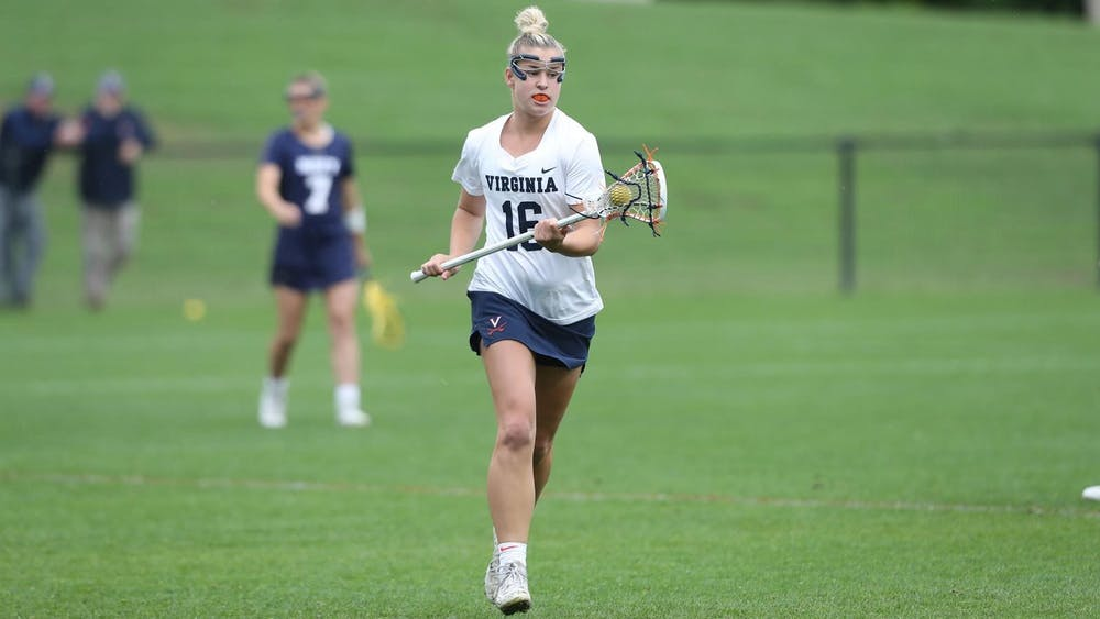 <p>Sophomore midfielder Ashlyn McGovern scored a career-high five goals against No. 15 Navy.</p>