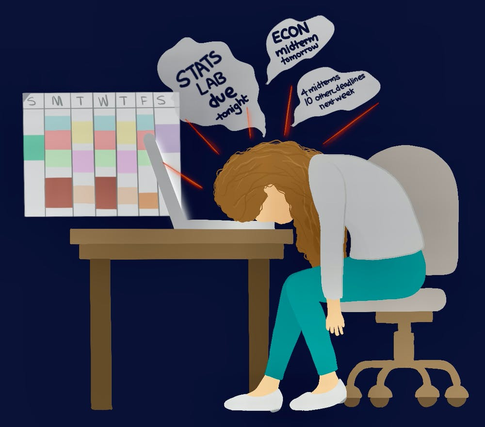 <p>Students have commented on a feeling of monotony this semester, where sitting at the computer all day has caused days to blend together.</p>