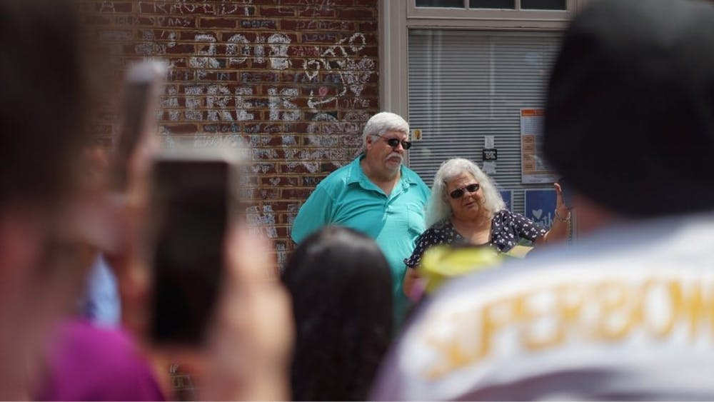 Susan Bro thanked activists for being present, but she quickly added that the events of the weekend are not just about her daughter, Heather Heyer, who was killed in a car attack in downtown Charlottesville last August.