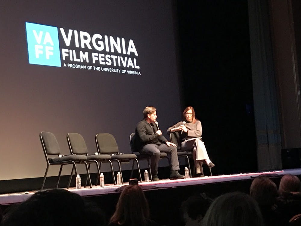 "Emilio Estevez speaks with Ann Hornaday to showcase his new film ""The Public"" at an event co-sponsored by the Virginia Film Festival and the Virginia Festival of the Book."