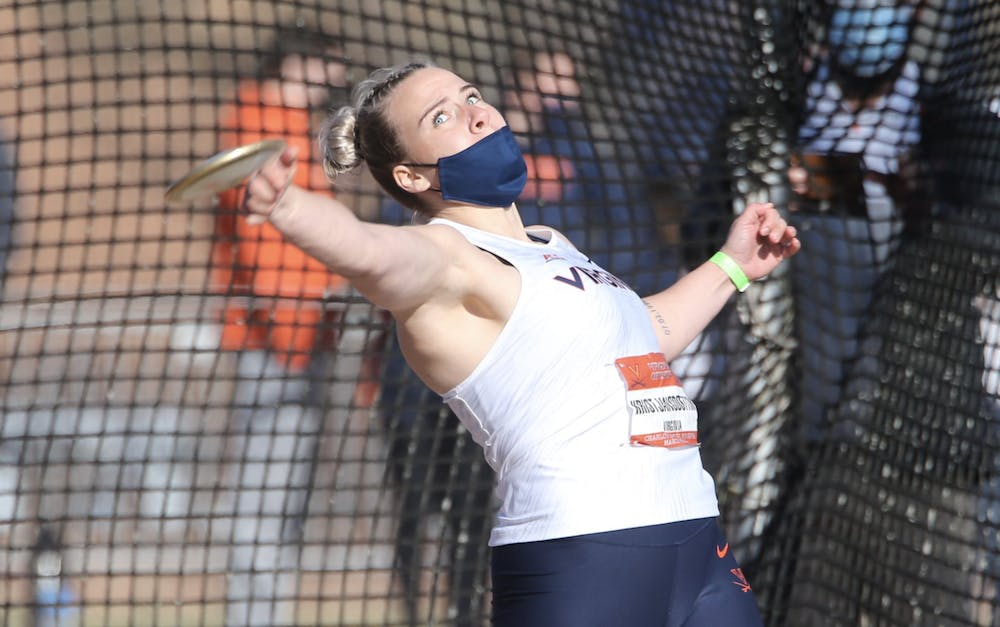 <p>The Cavalier women swept the throws with victories by junior Thelma Kristjansdottir in the discus, senior Eva Mustafic in the hammer throw and freshman Maria Deaviz in the shot put.</p>