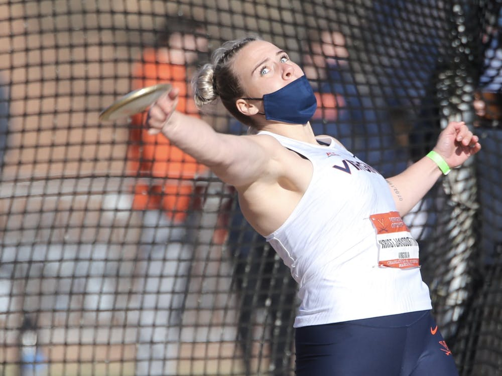 The Cavalier women swept the throws with victories by junior Thelma Kristjansdottir in the discus, senior Eva Mustafic in the hammer throw and freshman Maria Deaviz in the shot put.