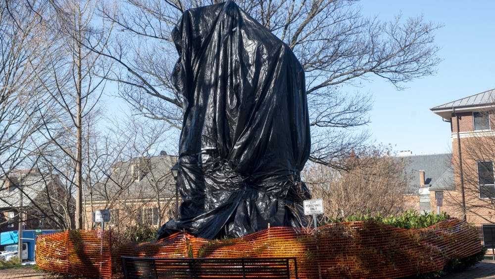 When City Council first ordered the statues to be covered, it did not set a date for the tarps' removal.