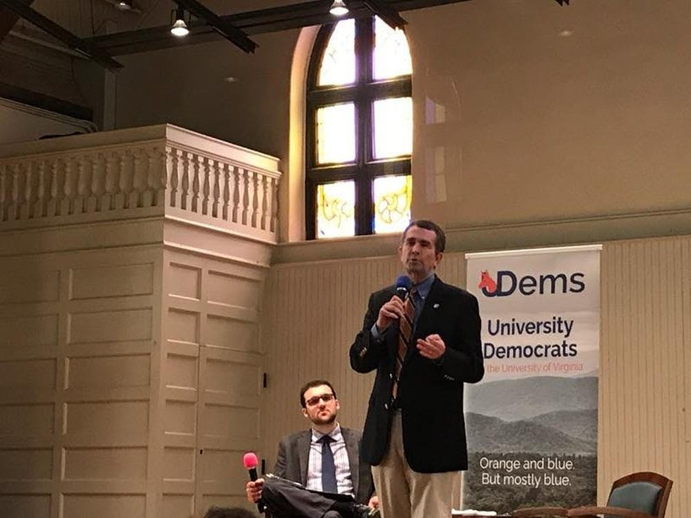 <p>Lt. Gov. Ralph Northam&nbsp;was interrupted by protesters at the forum Saturday.</p>