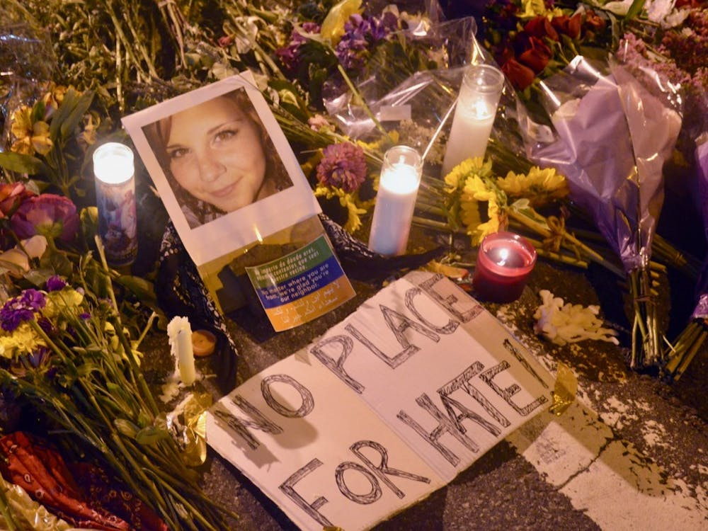 Heather Heyer was killed when a car plowed through a crowd near the Charlottesville Downtown Mall Saturday.
