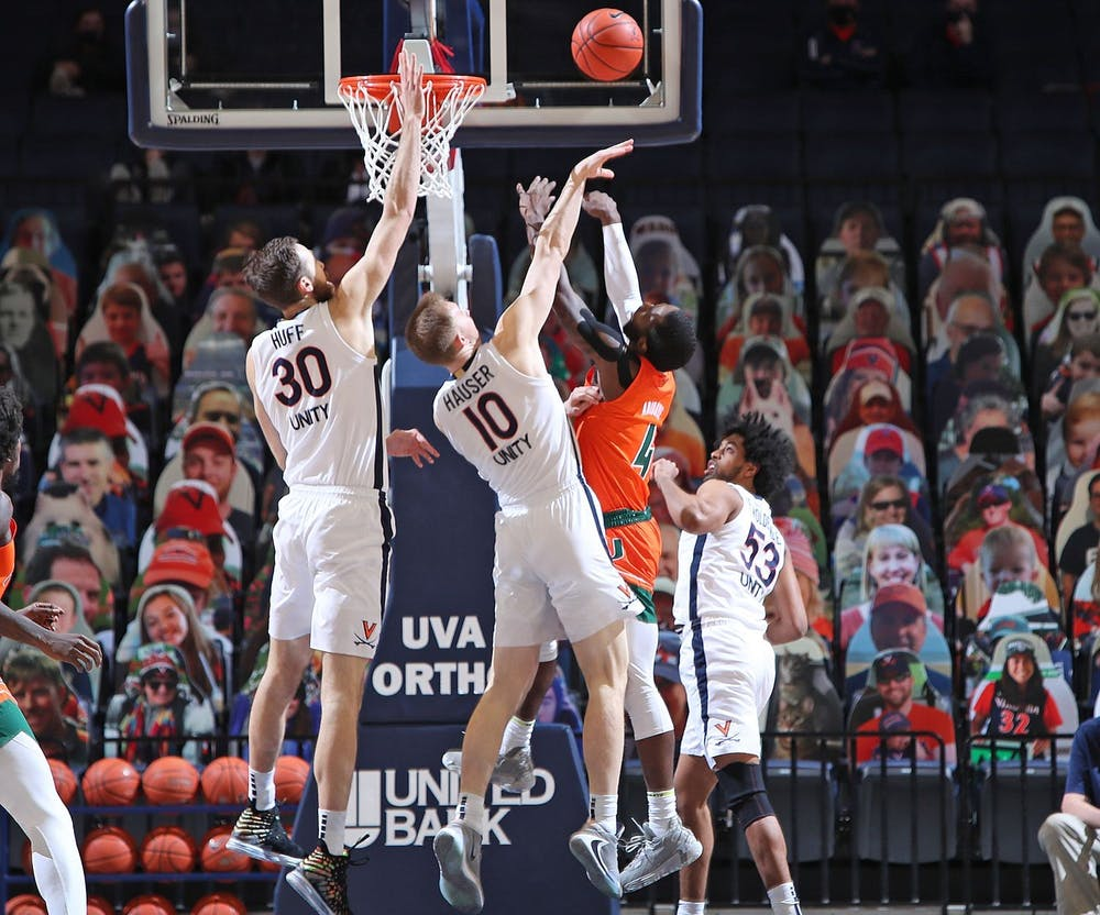 <p>Senior forwards Jay Huff and Sam Hauser will certainly play a key role in Virginia's pursuit of a second national title.&nbsp;</p>