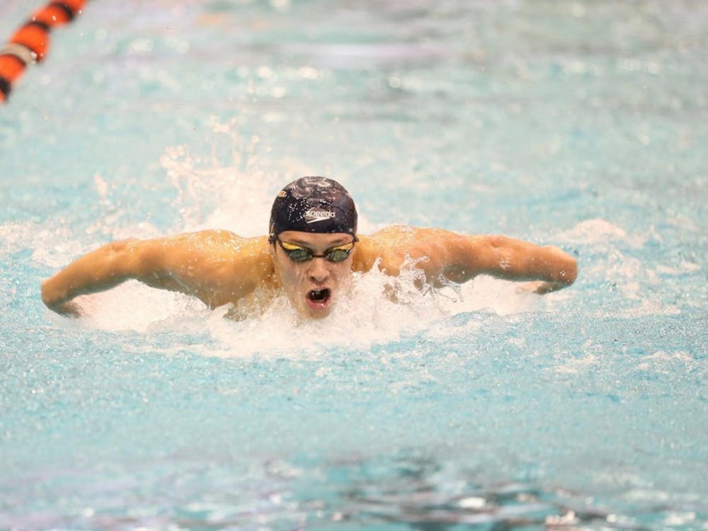 In the men's competition, senior Zach Fong swept all the butterfly events and the 200-yard medley relay.