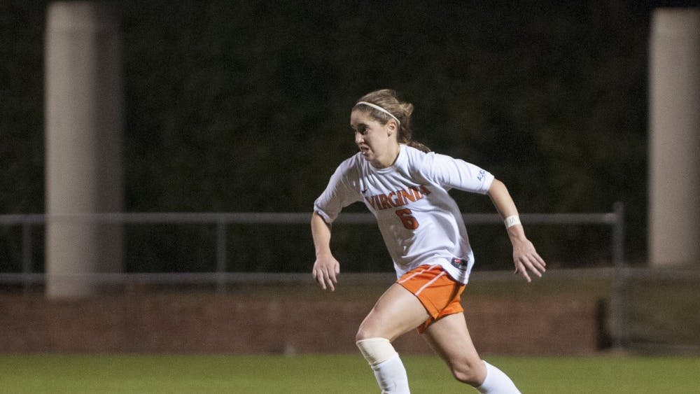 Junior midfielder Morgan Brian leads the Cavaliers in points, with 12 goals and 14 assists
