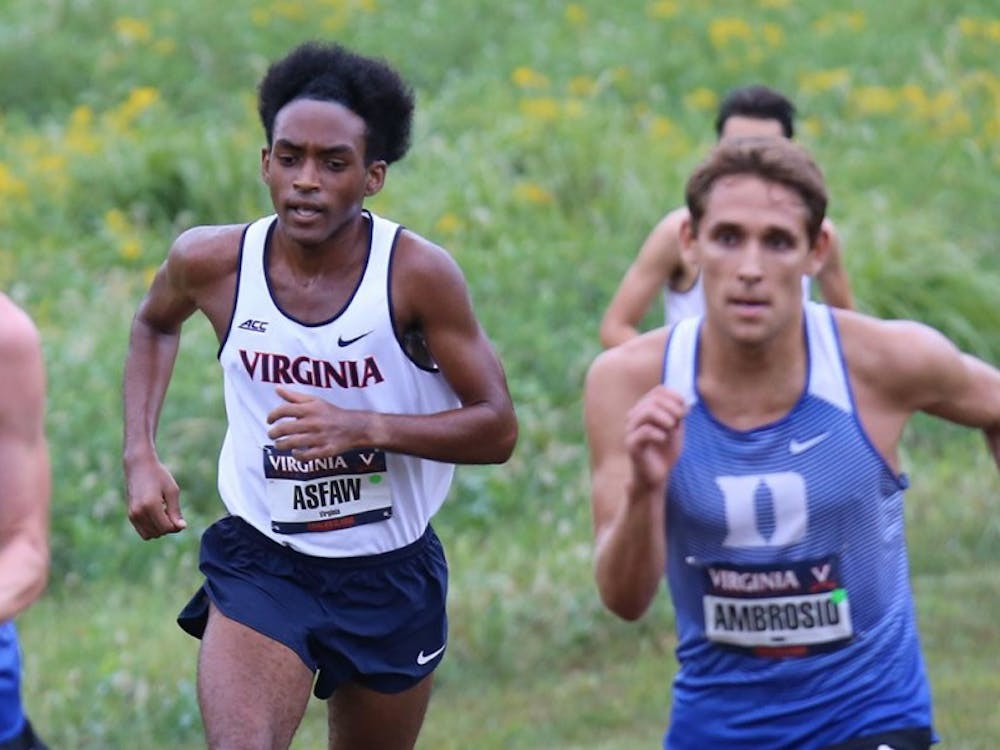 Junior Rohann Asfaw finished in first place during the men's 8K race, leading the Cavalier men to an overall team victory at the Cavalier Classic.