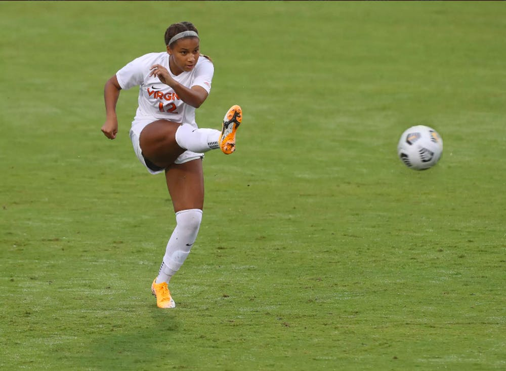 <p>Junior defender Claire Constant lifted the Cavaliers to a 1-0 shutout with a golden goal in the 94th minute.</p>