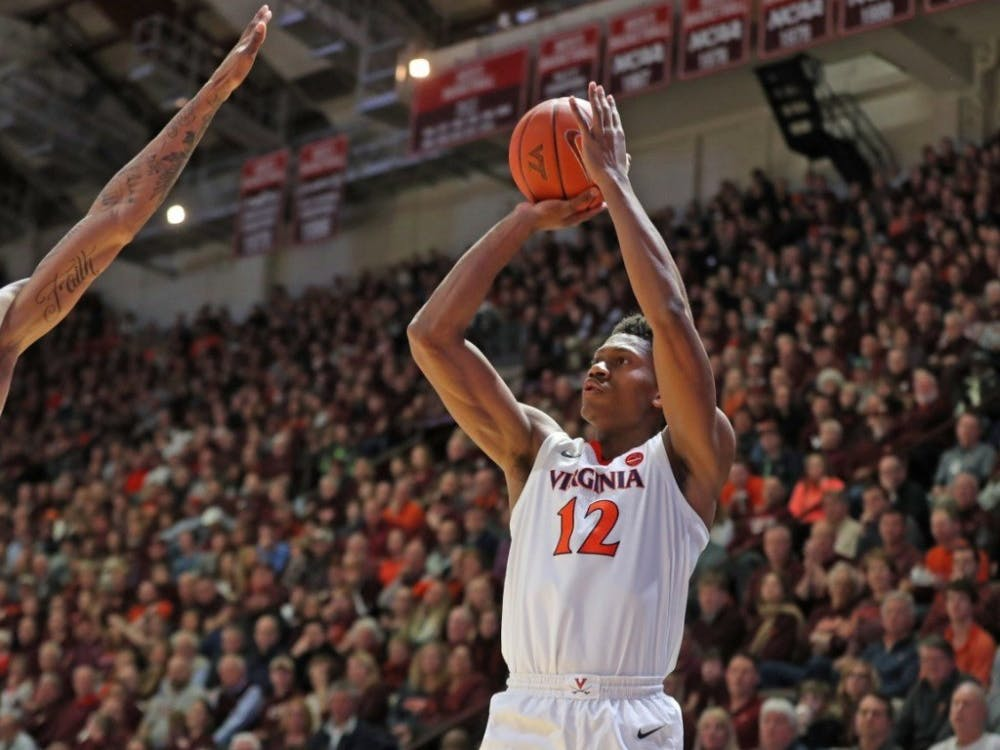 Sophomore guard De'Andre Hunter scored a career-high 26 points on 9-for-11 shooting.