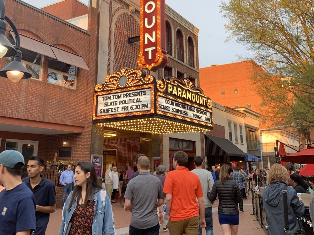 Colin Mochrie and Brad Sherwood performed at the Paramount Theater on Saturday as part of the Tom Tom Festival.