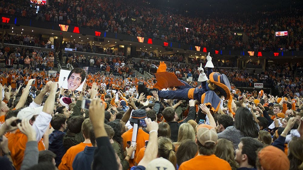 For columnist Kerry Mitchell, rushing the court after Virginia's win against Syracuse was a moment to remember.