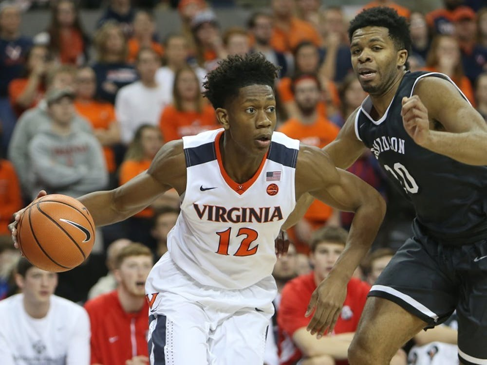 Sophomore guard De'Andre Hunter's led Virginia to multiple wins in clutch time last season.