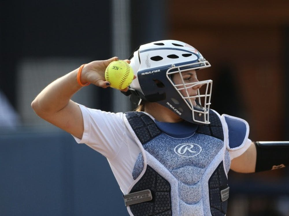 Junior catcher Olivia Gott had two of Virginia's three hits in the final game against Boston College.