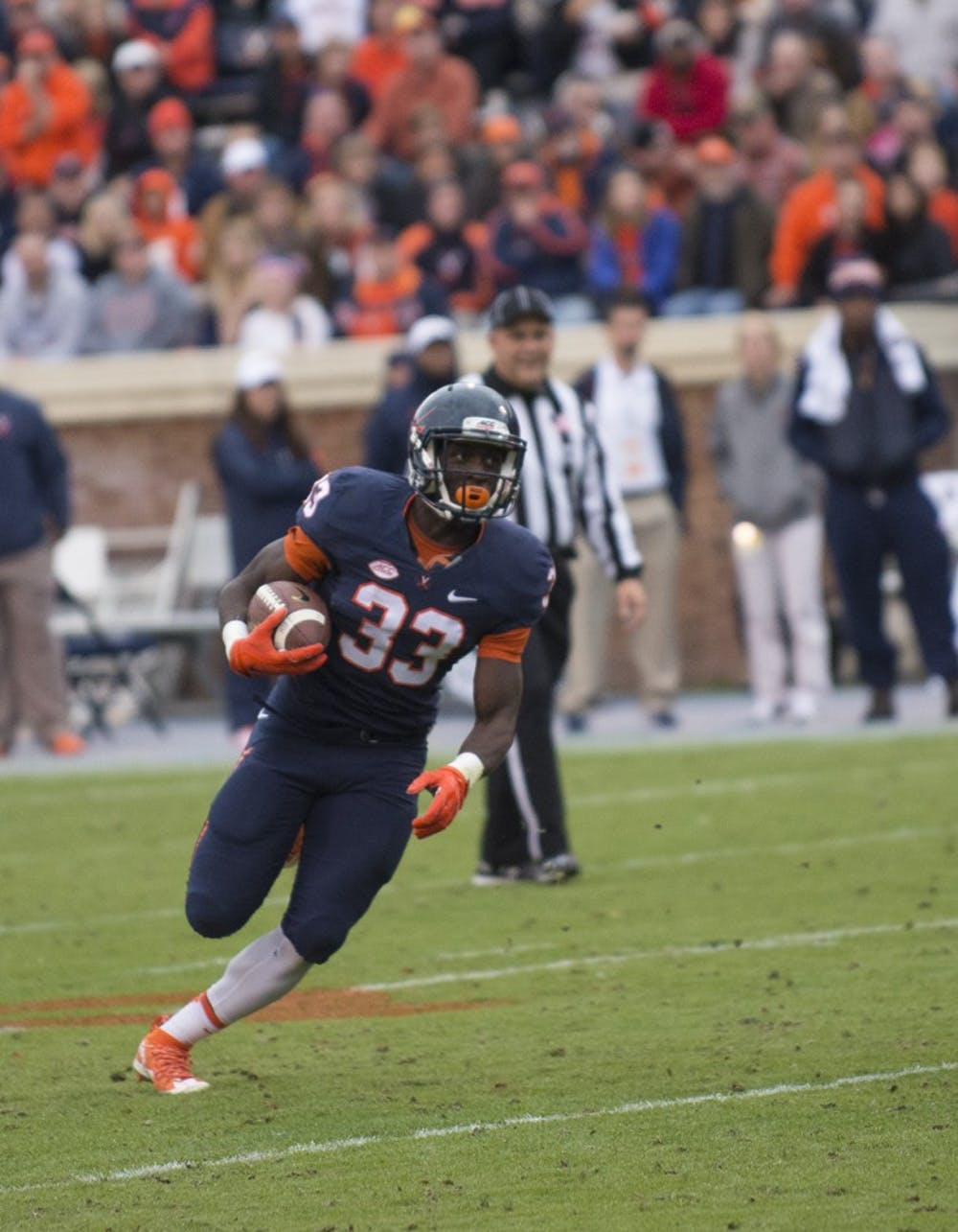 <p>Freshman Olamide&nbsp;Zaccheaus&nbsp;is thriving in a hybrid running back/wide receiver role in his first collegiate season.&nbsp;</p>
