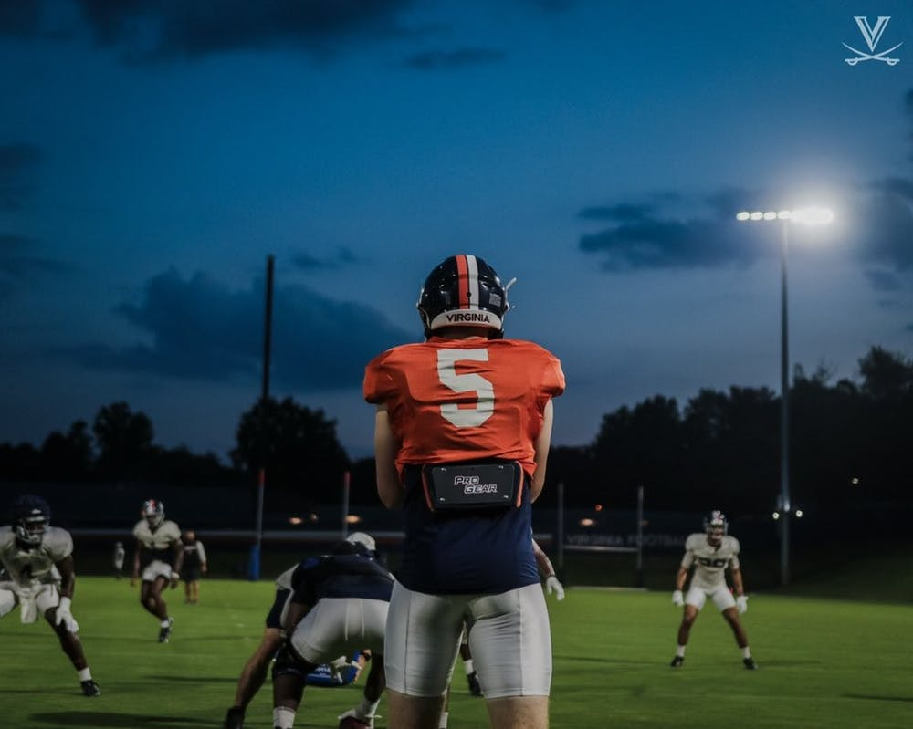 <p>Junior quarterback Brennan Armstrong's development over the offseason will be crucial to the Cavaliers' success in 2021.</p>