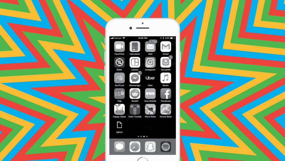 After staring at your phone in grayscale, looking up at the real world of vibrant colors can produce a momentary surprise.