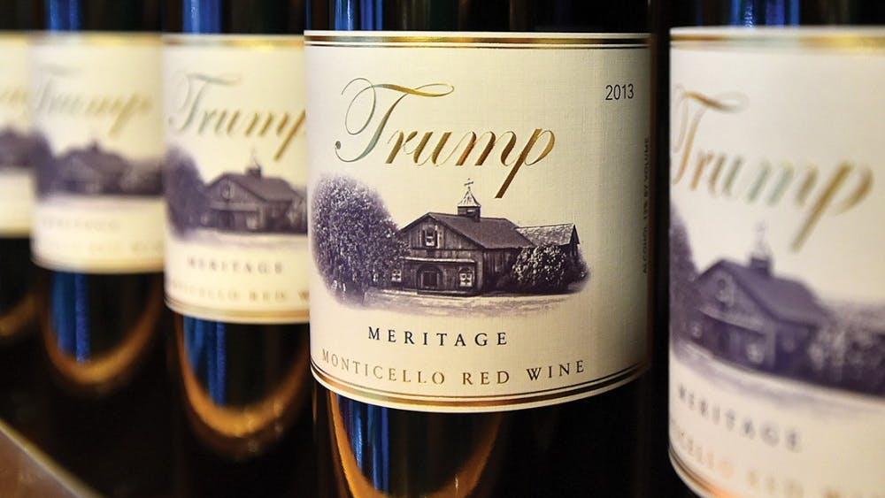 TOPSHOT - Trump brand wine is seen inside the Trump International Hotel in Las Vegas, Nevada on February 23, 2016. AFP PHOTO / JOSH EDELSON / AFP / Josh Edelson        (Photo credit should read JOSH EDELSON/AFP/Getty Images)
