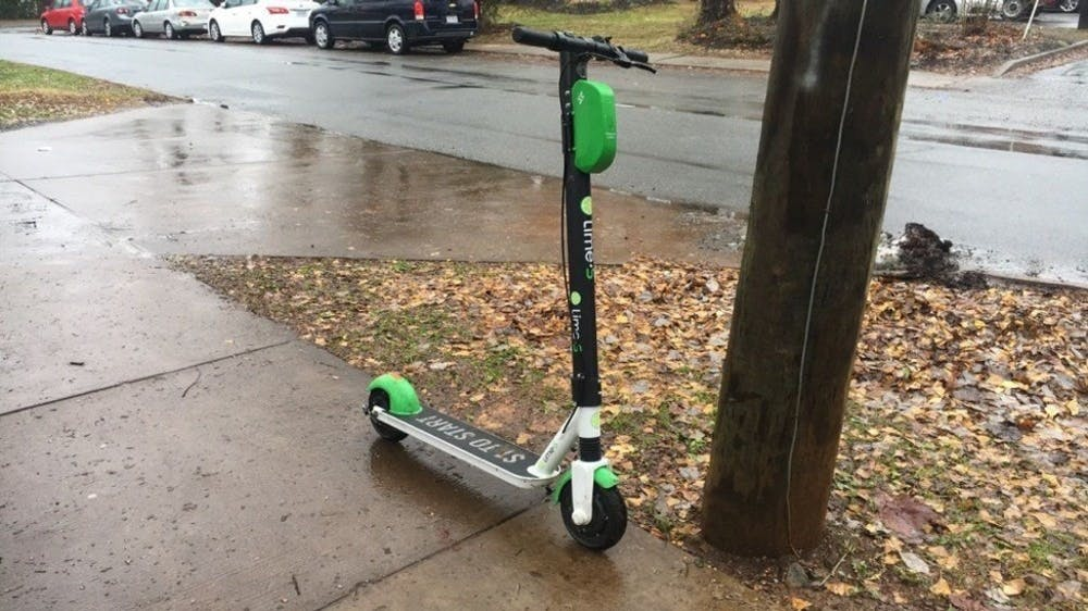 <p>Lime was the first e-scooter company to come to Charlottesville.</p>