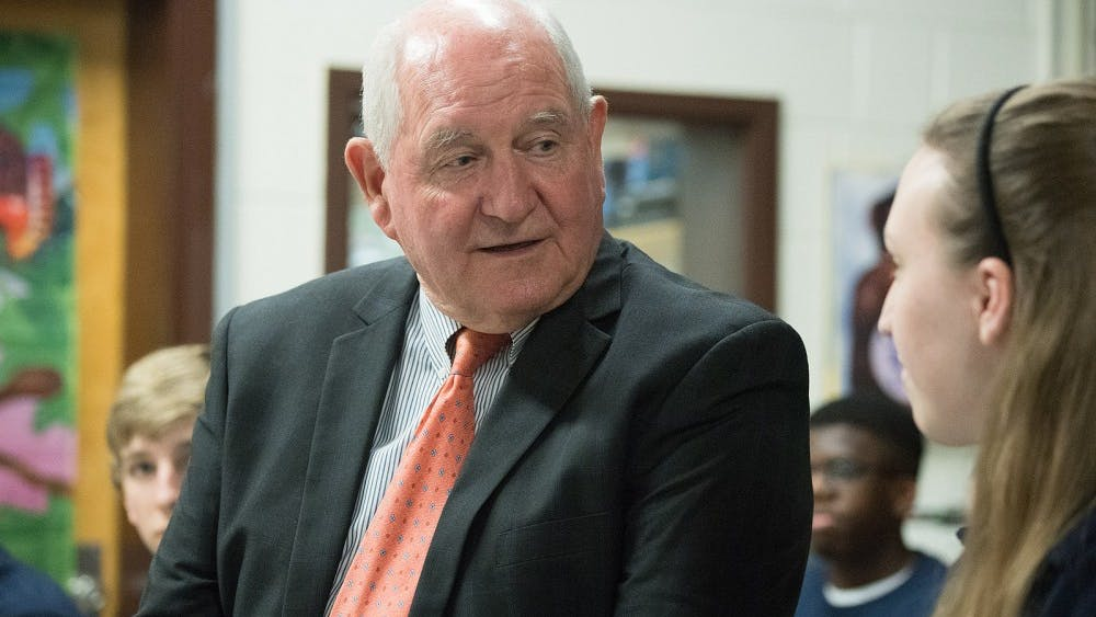 """Sonny Perdue, United States Secretary of Agriculture, expressed that """"USDA America's Harvest Box is a bold, innovative approach to providing nutritious food to people who need assistance"""""""