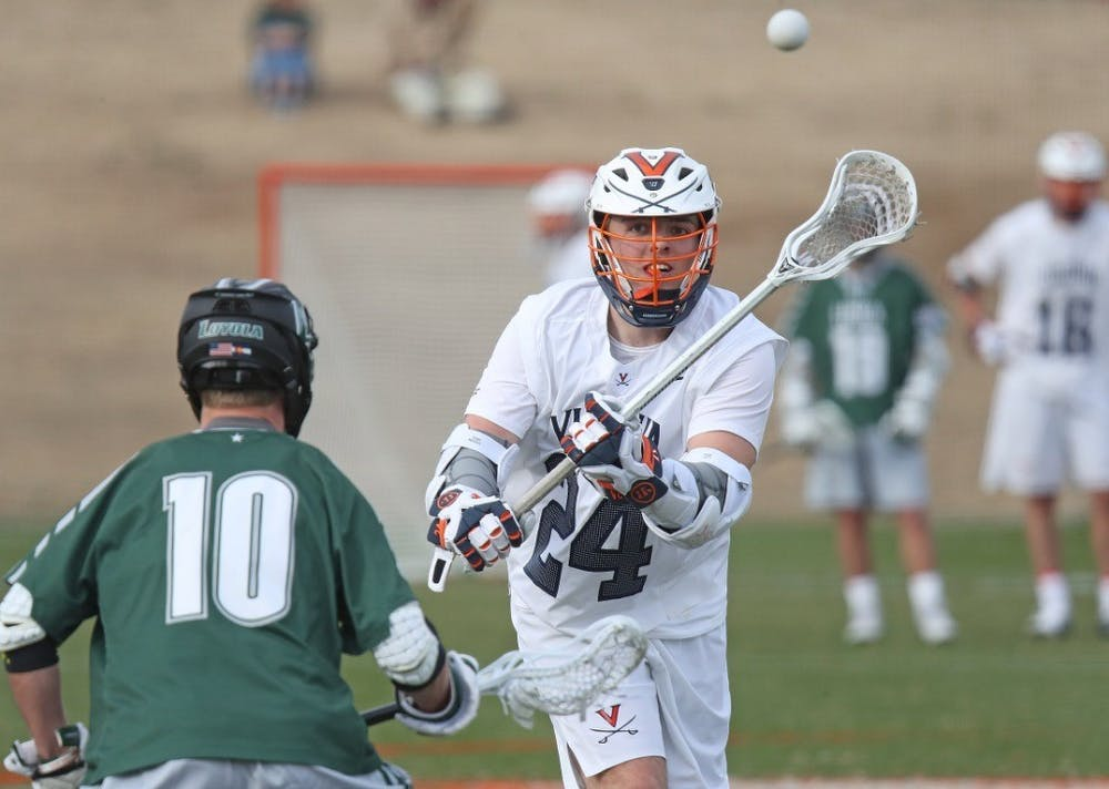 <p>Redshirt freshman Payton Cormier made his long-awaited Virginia debut against Loyola, netting a hat-trick.&nbsp;</p>