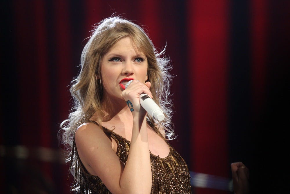 "<p>Taylor Swift performing for her ""Speak Now World Tour"" concert in Sydney, Australia</p>"