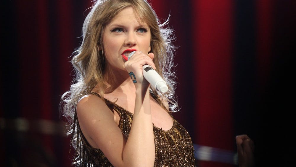"Taylor Swift performing for her ""Speak Now World Tour"" concert in Sydney, Australia"