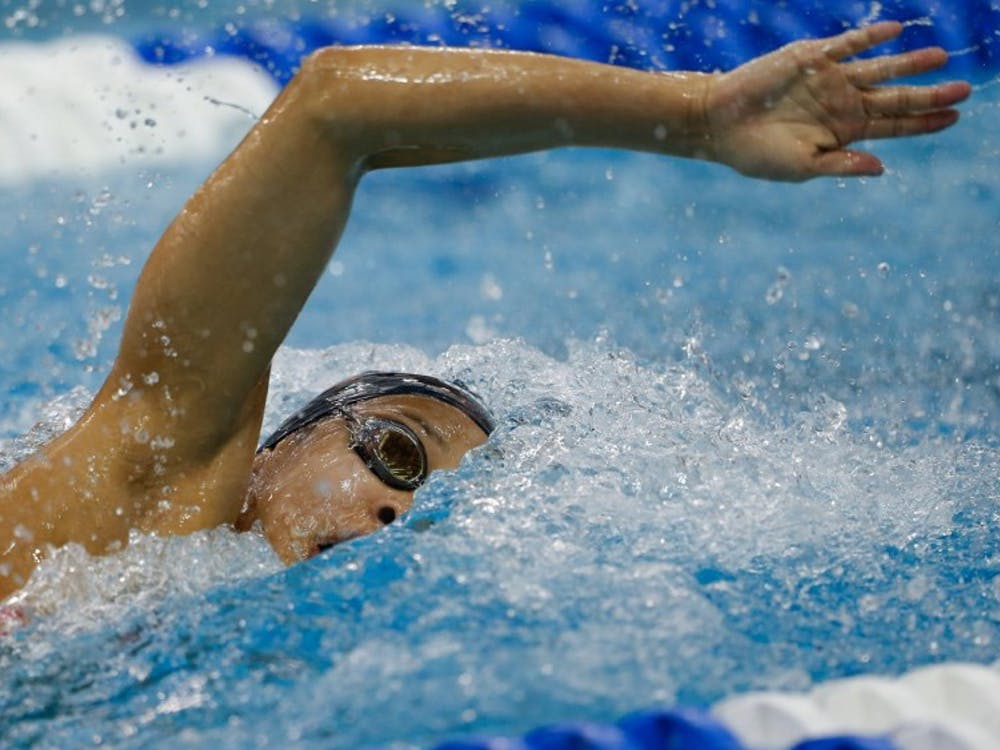 Junior Morgan Hill won the 50-yard freestyle, and she also won the 100-yard butterfly with a time of 53.33.