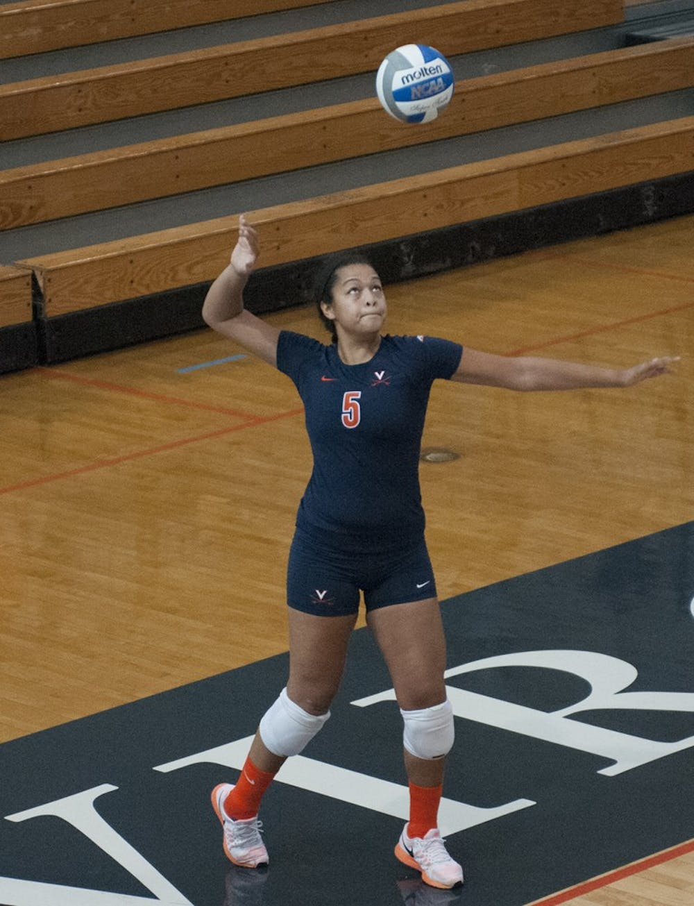 <p>Junior defensive specialist Karlie Suber led Virginia with nine digs Saturday against NC State. The Cavaliers downed the Wolfpack in straight sets. </p>
